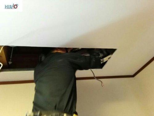 エアコンの入れ替え工事 大阪にて清掃のHIRAOがお伺い致しました。