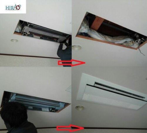 エアコン入れ替え工事4台依頼頂きました。滋賀のHIRAOにお任せ下さい。