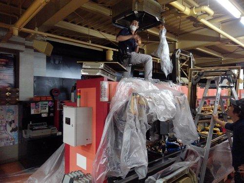 滋賀にてパチンコ店舗の空調清掃エアコンクリーニングが終了致しました。