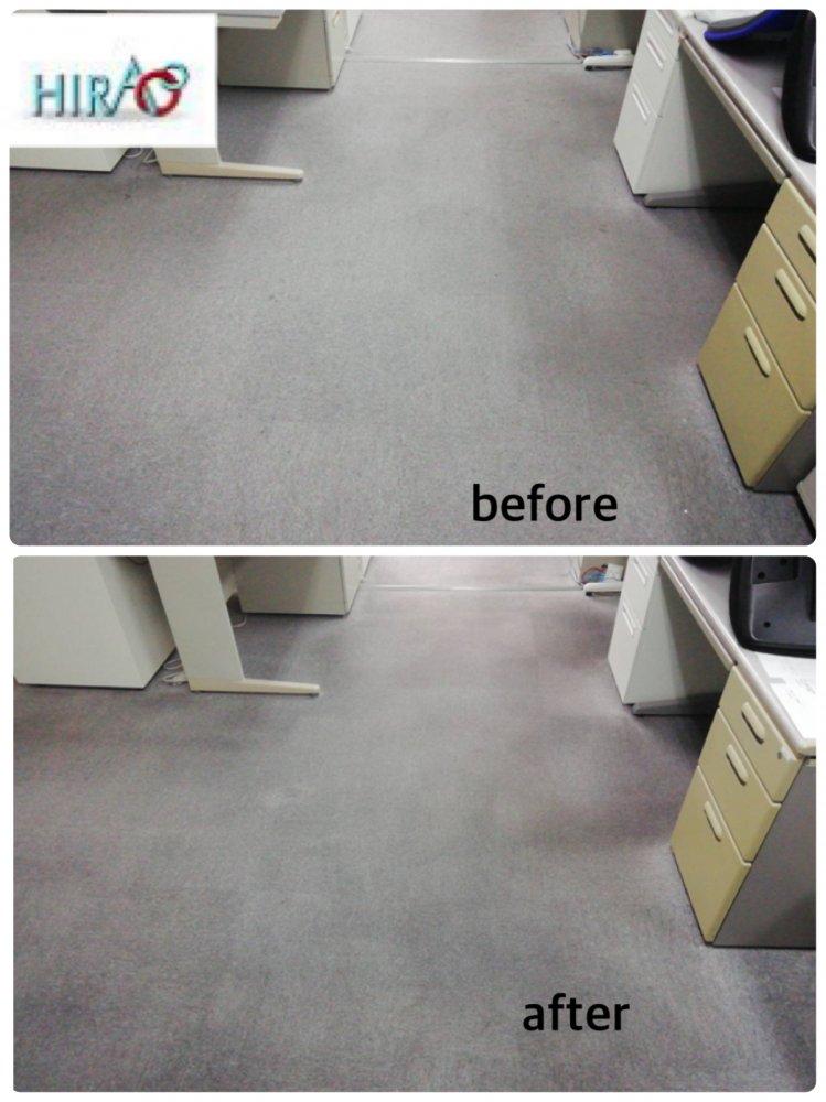 大阪の会社様にて床清掃です。