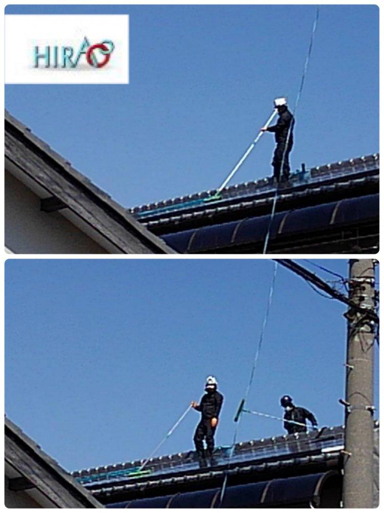 愛知県一宮市にて外壁洗浄工事です。