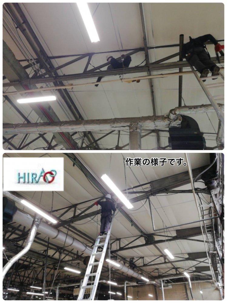 三重県亀山市にある工場様にて除塵作業です。