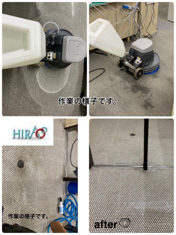 滋賀県にある工場様にて床清掃です。