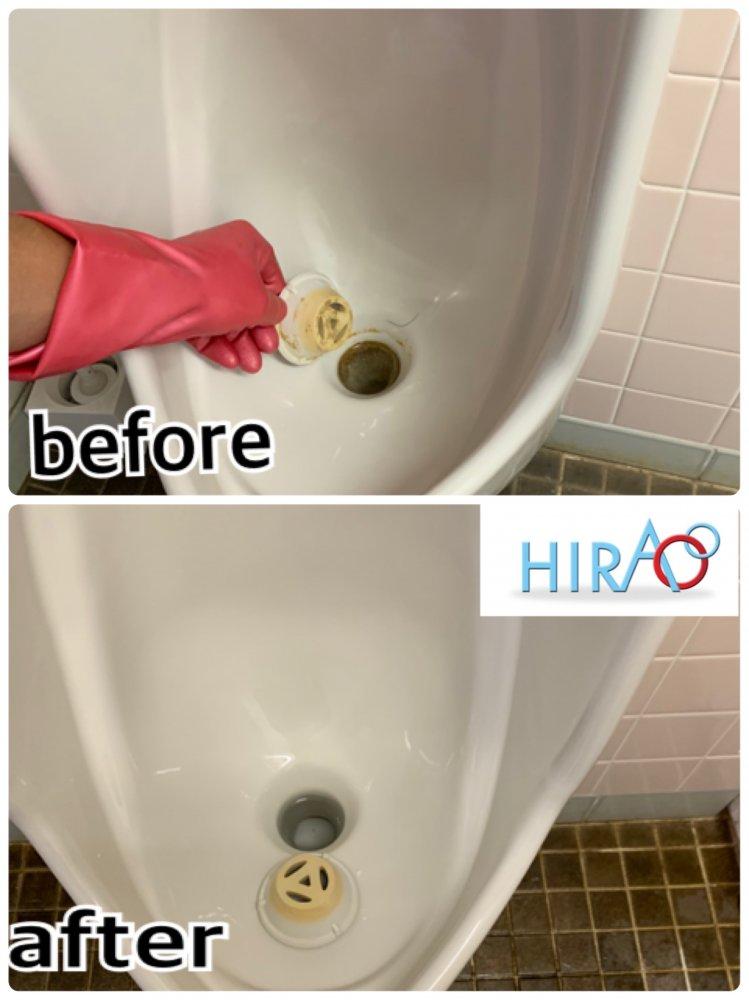 滋賀県栗東市にある会社様にてトイレ清掃です。