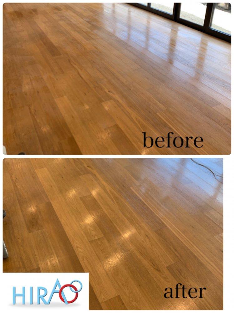 滋賀県甲賀市にある飲食店様にて床の清掃です。